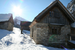 First hut in the tour, Cime du Mélezet. Photographer: Hugo van der Sluys. (380 Kbytes)